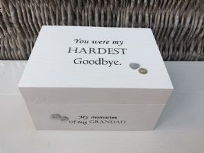 Personalised In Memory Of Box Loved One ~ GRANDAD ~ any Name Bereavement Loss - 232738812747